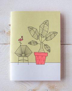 Pillah Studio schriftje illustratie onder de palmboom ontworpen door Sandra Wiggers