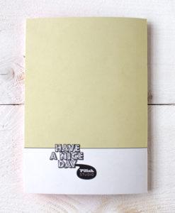 papierwaar opschrijfboekje met illustratie