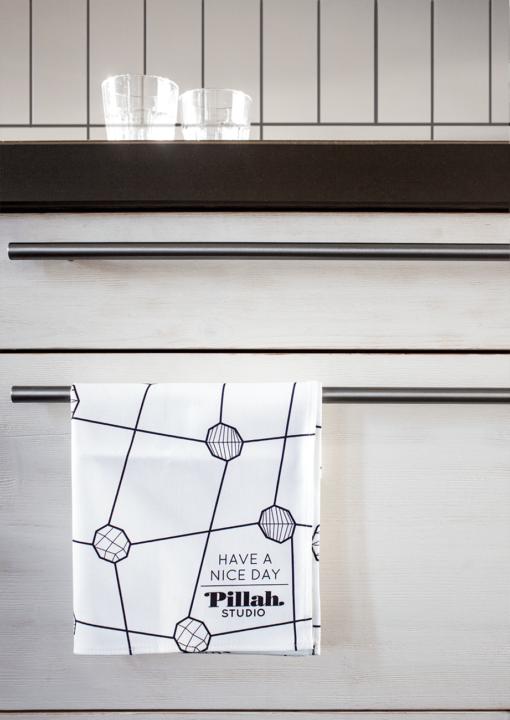 tea towel dots print