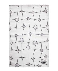Keukendoek wit met stippen patroon