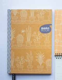 notebook oranje hard-cover plantpower