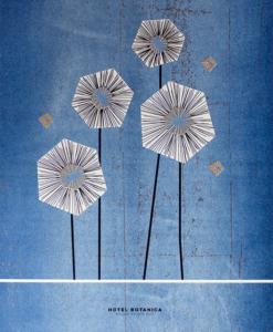 poster blauw bloemen illustratie