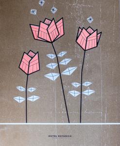 poster met bloemen illustratie