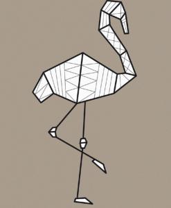 flamingo poster grafische en modern