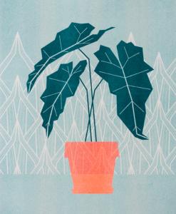 groene poster met grafische illustratie