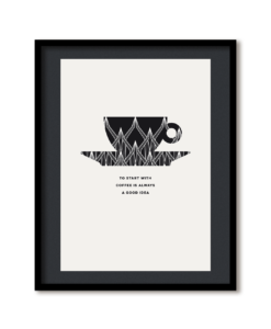 grafische posters Espresso illustratie