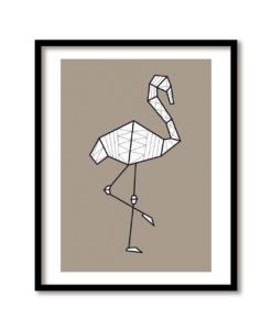 flamingo poster modern en grafisch