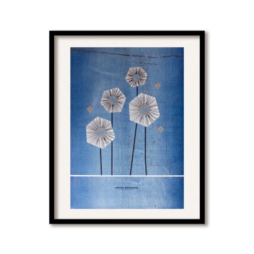 bloemen illustratie grafische poster rin risoprint