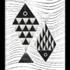 Poster illustratie vissen zwart wit