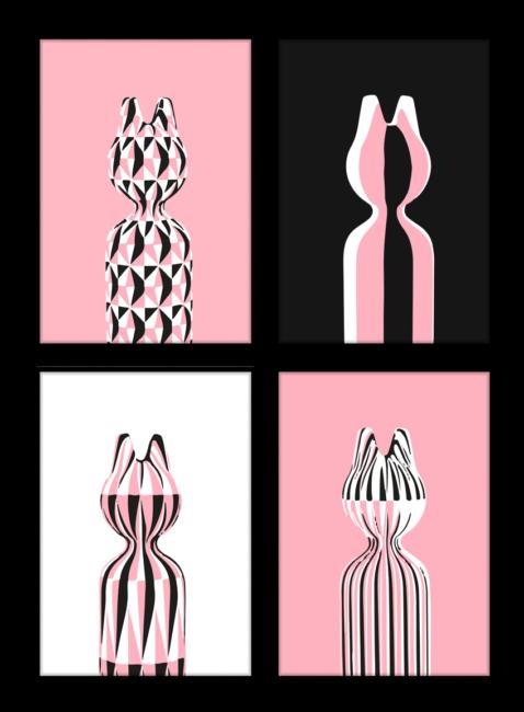 poster serie CAT voor een lege muur aankleden